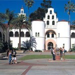 Students in front of Hepner Hall