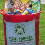 The campaign aims to collect 100,000 pounds of food.