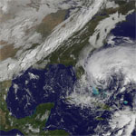 Satellite picture of storm