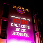 Congratulations SDSU Colleges Rock Hunger projected on Hard Rock Hotel