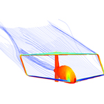 An aerodynamic analysis of a joined-wing configuration airplane.