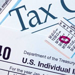 Picture of tax-related things