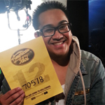 Marvin Calderon with the golden ticket to Hollywood