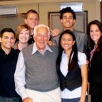 Leonard Lavin and students
