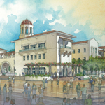 An artist's depiction of the Aztec Student Union, now under construction