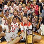 The women's basketball team won its second consecutive league title.