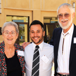 Patricia, '69, and Jerry Koppman with Andrew Griffin, who received the SDSU Retirment Association scholarship for 2012-13. Patricia is chair of the association and Jerry, emeritus professor of psychology, is membership chair.