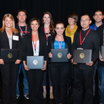 Student President's Award winners. (Photo courtesy of Frank Villalpando)