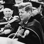 SDSU awarded its first honorary doctorate degree to President John F. Kennedy in 1963.