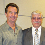 From left: Jeff Church, Nika Water co-founder; Alex DeNoble, Lavin Center director; L. Robert Payne, CEO of Multi-Ventures Inc.