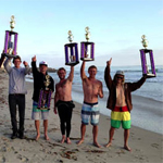 SDSU Surf team with trophies