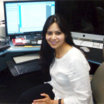 Mahasweta Sarkar at her desk