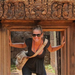 Kiersten Rich at the Temples of Angkor Wat in Thailand.