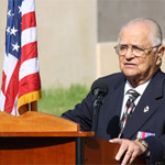 Brigadier General Robert L. Cardenas (ret.) delivers the keynote address at SDSU's October 25 War Memorial Ceremony.