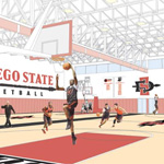 Mock-up of new Basketball Performance Center