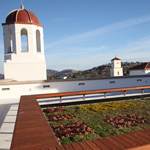 Image of the green roof atop the new Aztec Student Union.