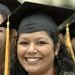A young Latina woman on graduation