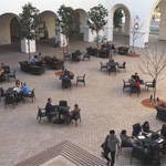 Lee and Frank Goldberg Courtyard in the Conrad Prebys Aztec Student Union