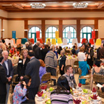 Students, faculty and donors mingle at the donor luncheon