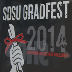 Gradfest poster featuring time and date