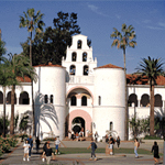 Hepner Hall with people in front