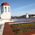 The Union's green roof is one of many environmentally-friendly features.
