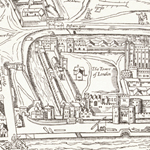Old map of London SDSU students worked on