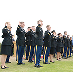 Army ROTC members in last year's ceremony.