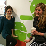 Two women at Google office