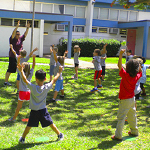 children participating in physical education