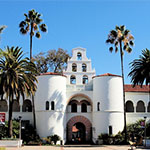 The front of Hepner Hall
