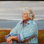 Portrait of Susan Weber painted by David Graeme Baker (provided by Stephen Weber)