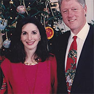 Professor Salsitz with Hillary and Bill Clinton