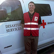 a student and Red Cross volunteer.