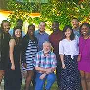 Betts (center) with SDSU students in the Dominican Republic.