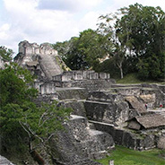 The Tikal Ruins in Guatemala.