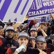 The Aztecs captured their first outright conference championship in 29 seasons.