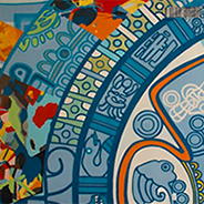 Aztec mural in the Library