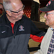Bill Voigt meets with Steve Fisher.