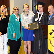 Recipients at the Mortar Board event