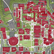 Screenshot of the new campus map