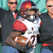 Senior cornerback Damontae Kazee returns an interception for a touchdown versus Colorado State. (Photo: Ernie Anderson)