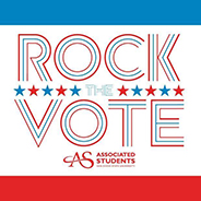 The Aztecs Rock the Vote campaign is reaching out to the campus community to get involved in the upcoming election. (Credit: Associated Students of SDSU)