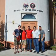 Meetings for the Student Veteran Organization are held at the Student Veterans House. (Credit: SVO)