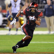 SDSU running back Donnel Pumphrey ranks third all-time in NCAA history for career rushing yards with 6,180.