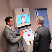 AVATAR can detect changes in physiology and behavior during interviews with travelers. (Credit: Aaron Elkins)