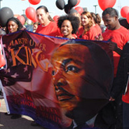 SDSU delegation at the MLK Parade