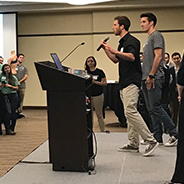 Nearly two dozen student teams presented their business ideas at the fifth annual Zahn Challenge.