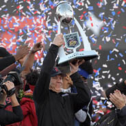 SDSU Football Head Coach Rocky Long is the all-time winningest coach in Mountain West history. (Credit: GoAztecs)