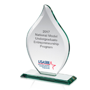 The 2017 National Model Undergraduate Entrepreneurship Program Award (Credit: USASBE)